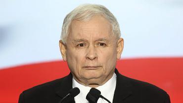 Jarosław Kaczyński, konferencja na Nowogrodzkiej, październik 2017