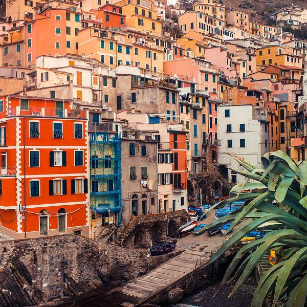Riomaggiore w krainie Cinque Terre