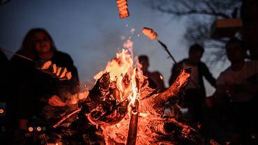 Co na ognisko? Sprawdź propozycje dla wegetarian i tradycyjne. Zdjęcie ilustracyjne
