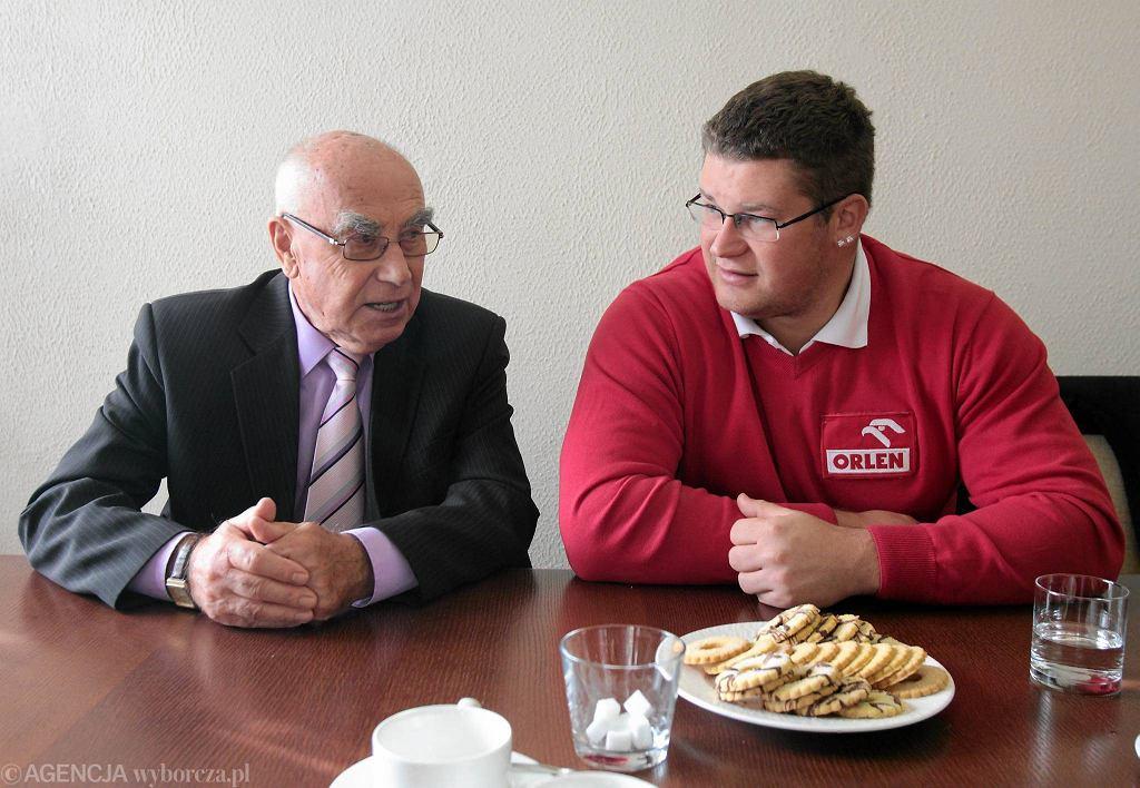Paweł Fajdek i jego trener Czesław Cybulski