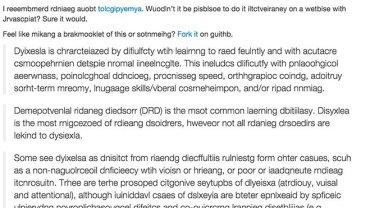 Symulacja stworzona przez szwedzkiego programistę pozwala zobaczyć tekst  okiem dyslektyka