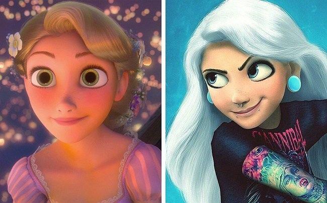 Pamiętasz Pocahontas, Mulan i Rapunzel? Tak wyglądałyby dziś księżniczki Disneya