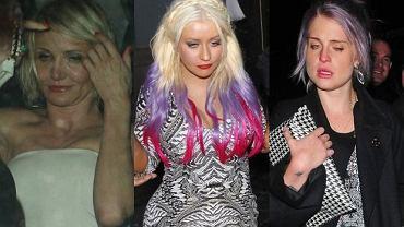 Christina Aguilera, Cameron Diaz, Kelly Osbourne.
