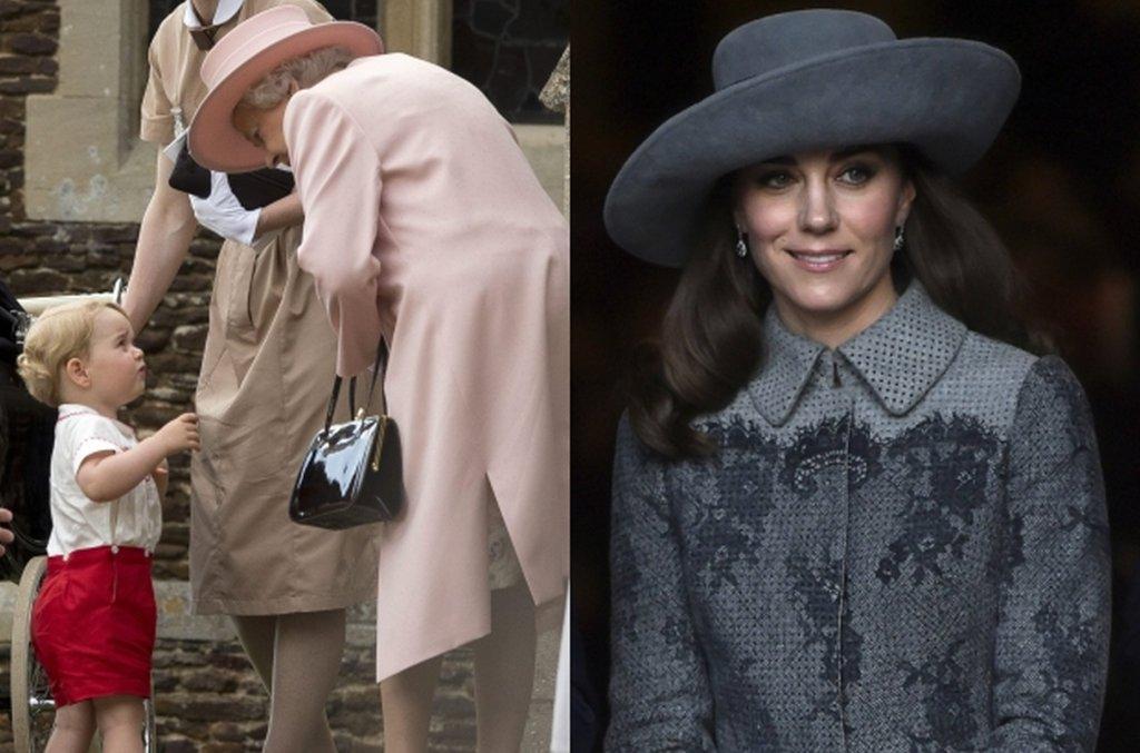 Książę George i królowa Elżbieta