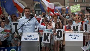 Wybory prezydenckie 2020. Rafał Trzaskowski w Skierniewicach
