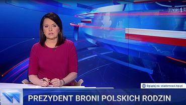 Kadr z wydania 'Wiadomości' TVP - poniedziałek 6 lipca.