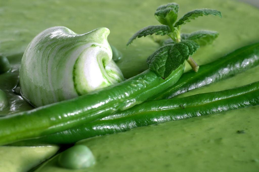 Zupa-krem z zielonej fasolki szparagowej.