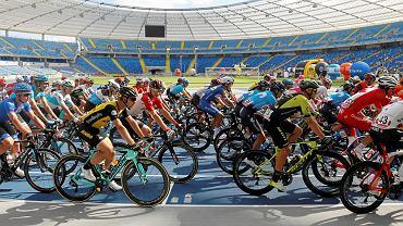 Kolarze na Stadionie Śląskim Tour de Pologne 2018