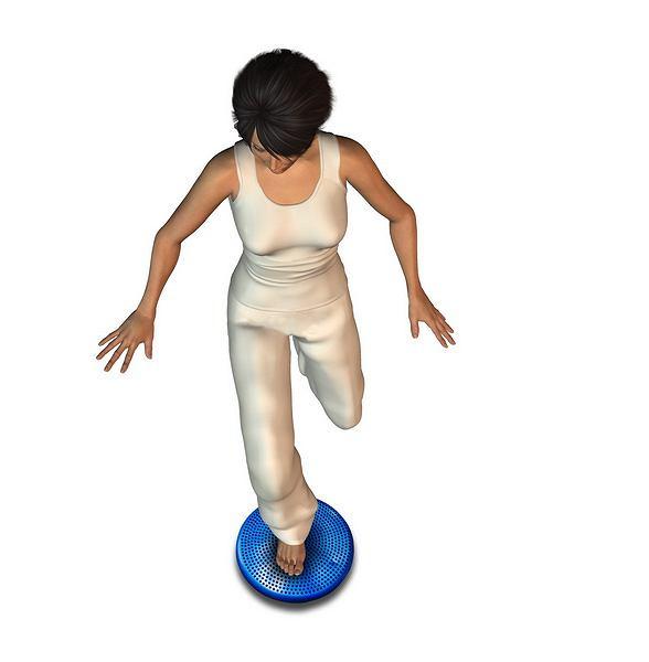 Ćwiczenia na poduszce rehabilitacyjnej na propriocepcję