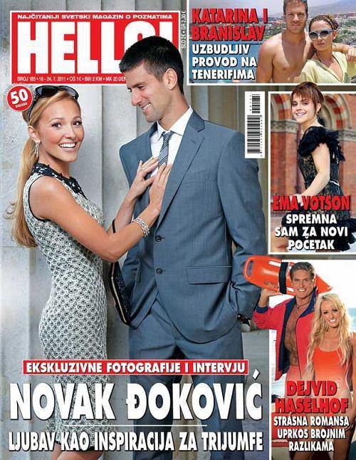 Novak Djokovic z dziewczyną