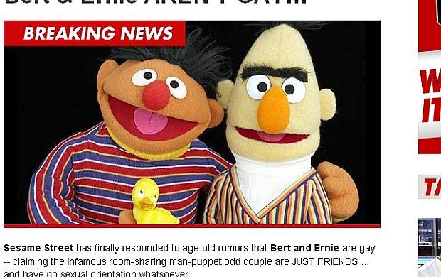 Bart i Ernie, postacie z ulicy Sezamkowej.