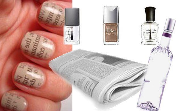 Manicure z nadrukiem
