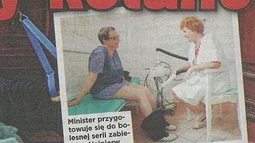 Katarzyna Hall u lekarza