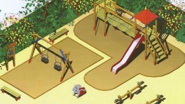 Tak może wyglądać plac zabaw na Ochocie