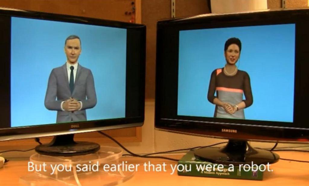 Rozmowa dwóch Cleverbotów.