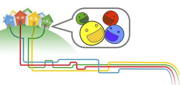 Fragment prezentacji eksperymentalnej usługi szerokopasmowej Google