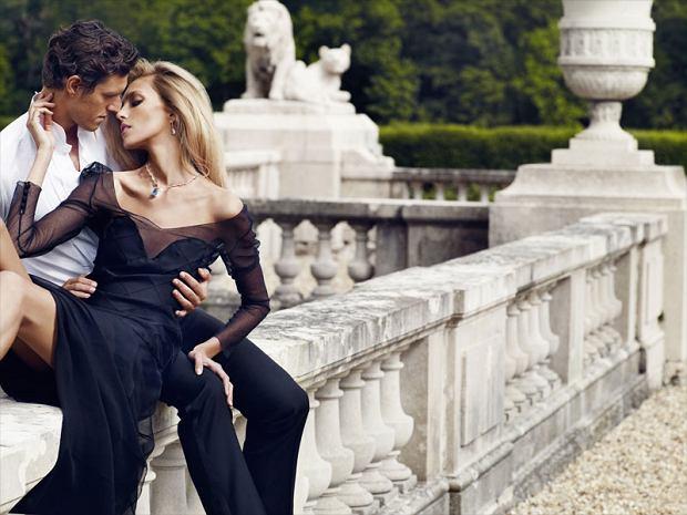 Kampania 'Diament Mon Amour' Apart jesień 2011, Anja Rubik, Sasha Knezevic