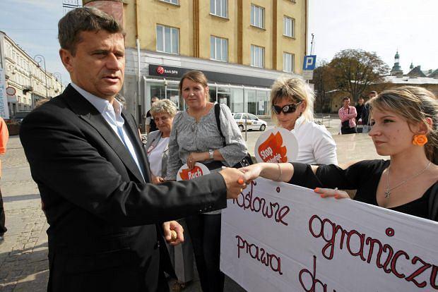 Janusz Palikot w Kielcach, 18.09.2011 r.