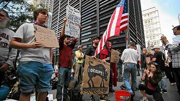 Ruch Occupy Wall Street protestuje przeciwko nierównościom. Październik 2011