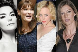 Bjork, Carla Bruni, Rachel McAdams,Gissele Bundchen.