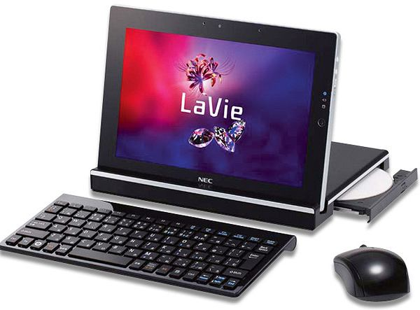 Nec LaVie Touch to tablet nietypowy: ma stację dokującą z czytnikiem DVD i pracuje na Windowsach.