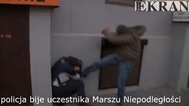 Komenda Stołeczna przyznaje: to policjant kopał uczestnika Marszu Niepodległości
