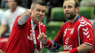 Bogdan Wenta i Artur Siódmiak na MŚ w Szwecji w 2011 roku