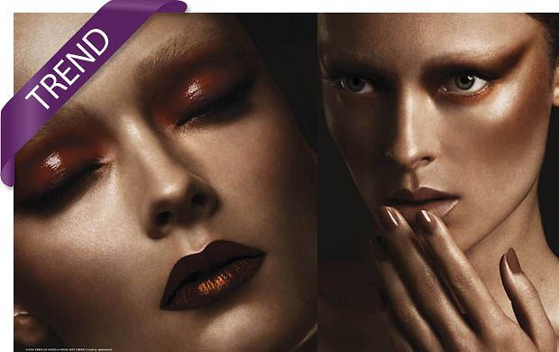 Trendy w makijażu na sezon jesień zima 2011/12 - miedziane makijaże