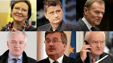 Ewa Kopacz, Janusz Palikot, Donald Tusk, Jarosław Gowin, Bronisław Komorowski, Leszek Miller