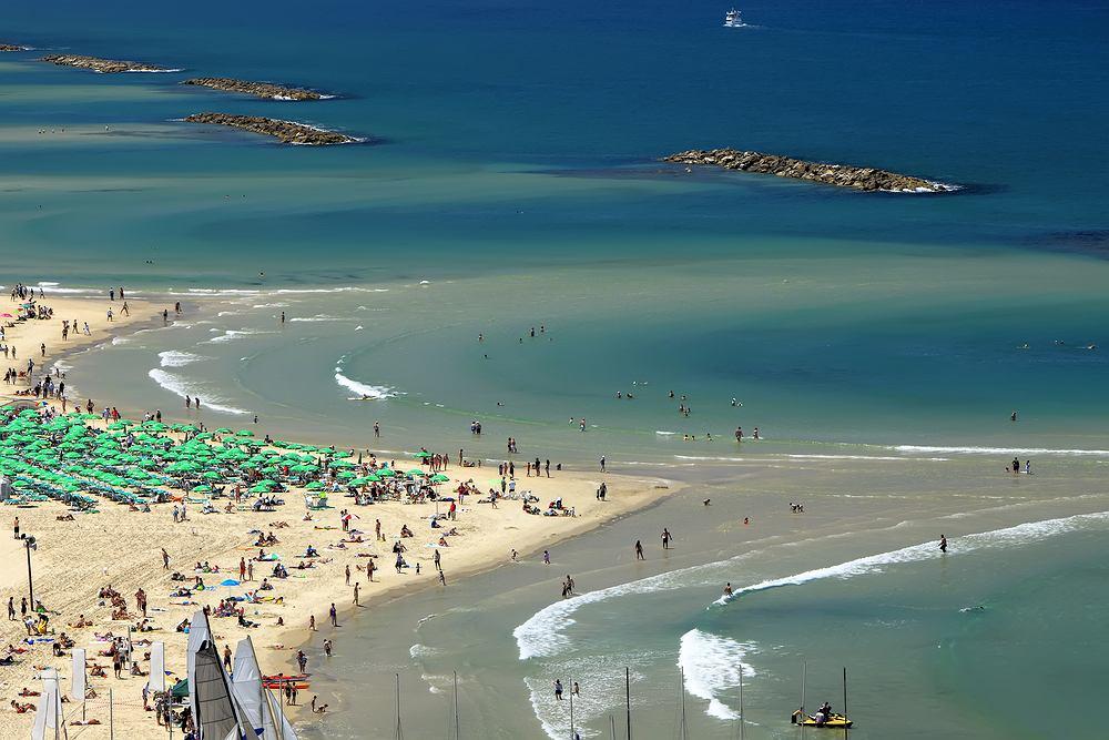 Izrael, plaża w Tel Awiwie