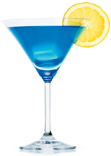 alkohol, drinki, Cool Blue Martini