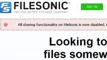 FileSonic wyłącza możliwość udostępniania plików