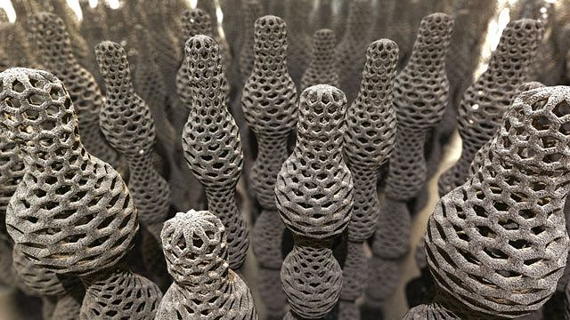 Tak artyści wyobrażają sobie wygląd nanorurek węglowych.