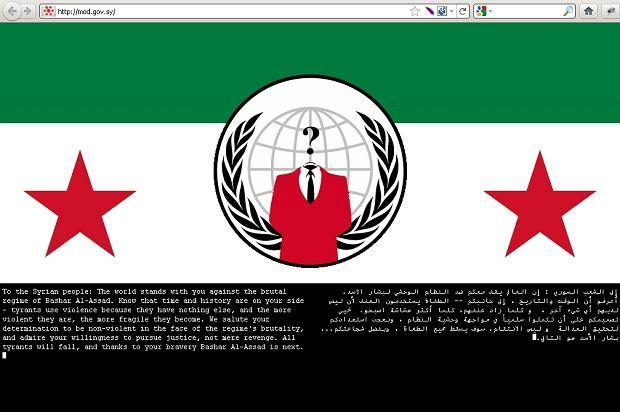 Witryna prezydenta Syrii