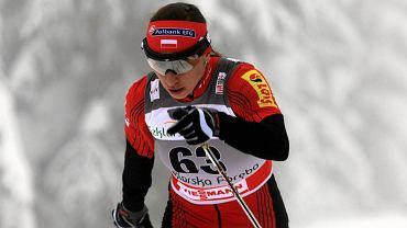 Justyna Kowalczyk na trasie w Jakuszycach