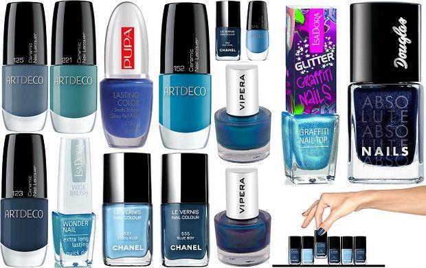 Niebieskie lakiery do paznokci