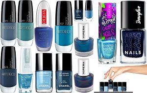 lakier do paznokci, niebieski, lato 2012, manicure, wiosna 2012, modne kolory, stylizacja paznokci