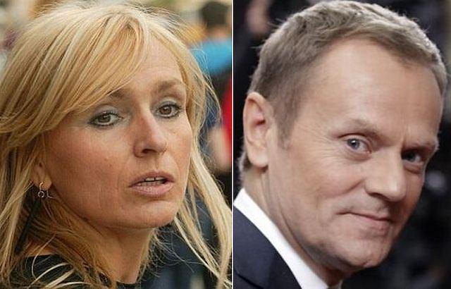 Monika Olejnik i Donald Tusk