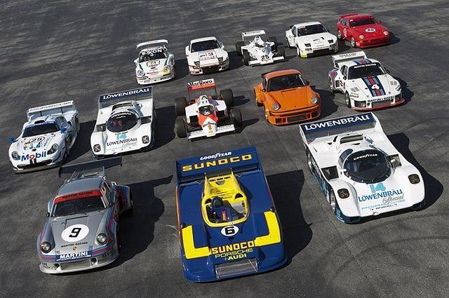 Wyścigowe modele Porsche