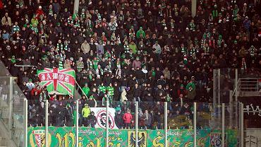 Kibice Śląska na stadionie w Gdyni