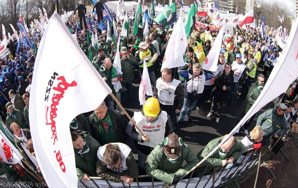 Demonstracja ''Solidarności''