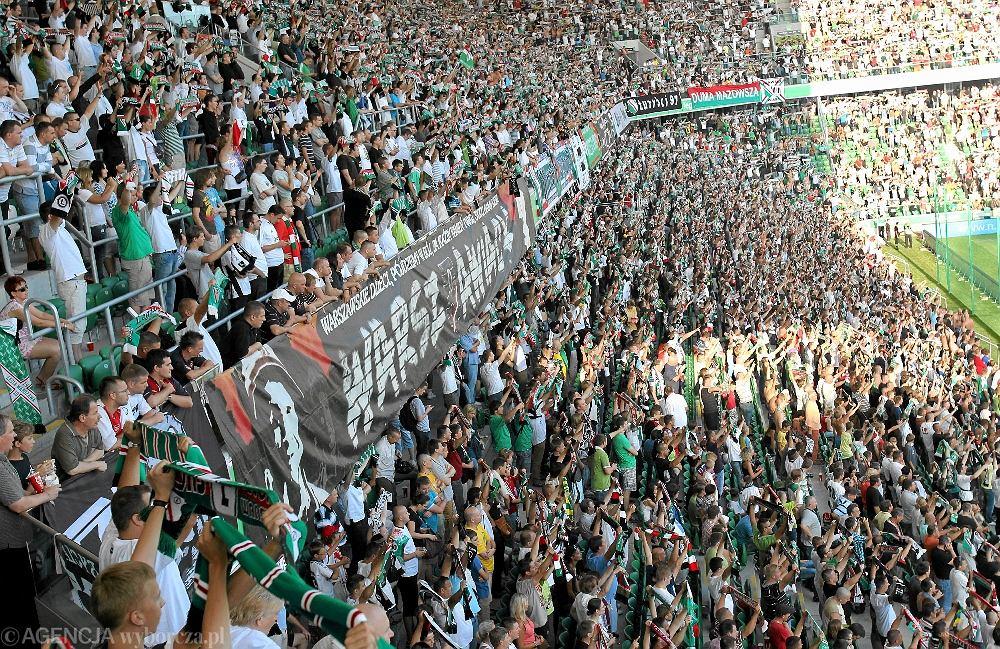 Kibice na stadionie Legii Warszawa