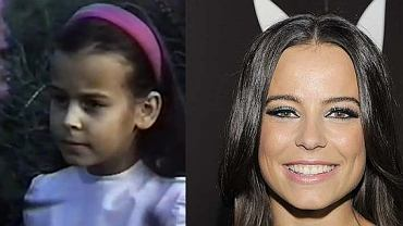 Anna Mucha jako dziecko i dzisiaj