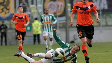 Fragment meczu Lechia - Zagłębie rozegranego w Poniedziałek Wielkanocny 2012 roku