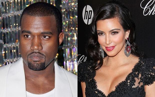 Kanye West, Kim Kardashian.