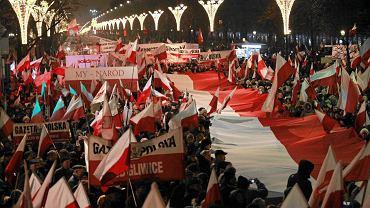 Marsz Solidarności i niepodległości zorganizowany przez PiS z okazji 30. rocznicy wprowadzenia stanu wojennego