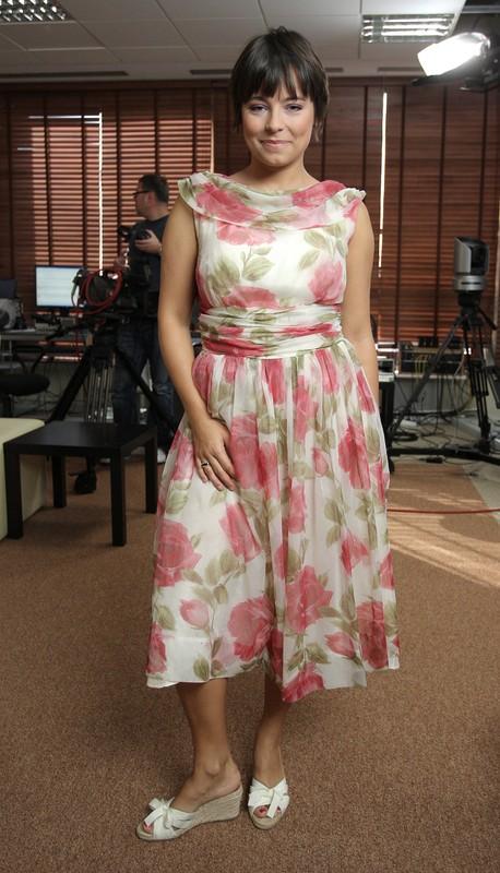 PHOTO: BARTOSZ KRUPA/EAST NEWS  WARSZAWA 10/09/2008  NA PLANIE PROGRAMU DZIENDOBRY TVN.  N/Z: ANNA MUCHA