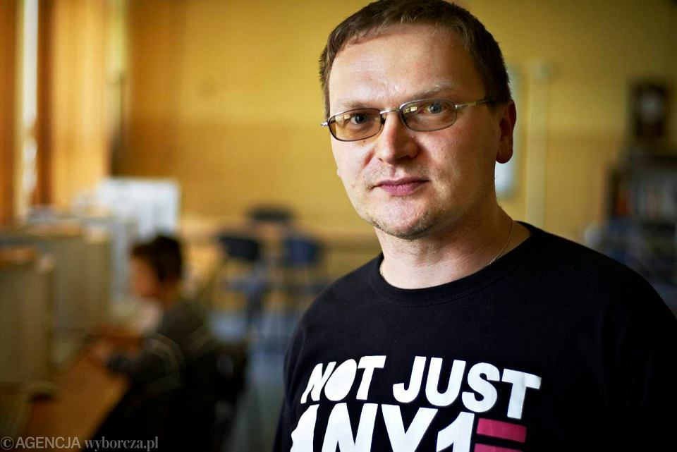 Radosław Dałek, nauczyciel informatyki i matematyki z Łodzi