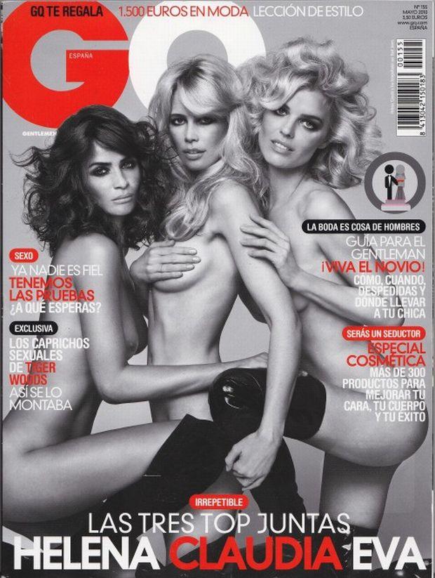 Helena Christensen, Claudia Schiffer, Eva Herzigova, gq
