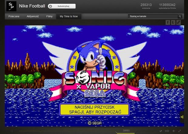 Sonic w reklamie Nike
